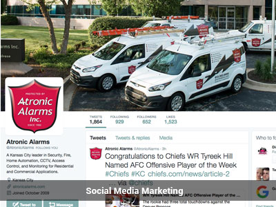 Atronic Alarms, Inc. Social Media Marketing