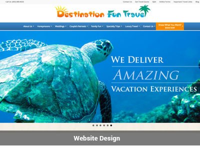 Destination Fun Travel Website